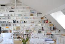 idée bibliothèque sous pente