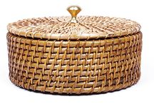 Basket Brackets / Cane baskets with Brass edges, sturdy and stylish - built to last long!