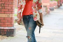 Floral blazer outfits