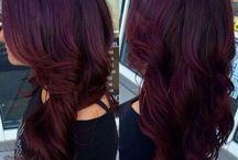 Deep Burgundy Hair