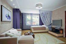 Дизайн гостиная спальня