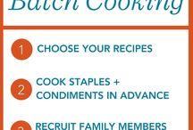 Préparation de menu- batch cooking