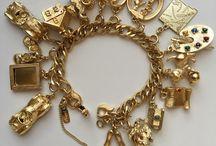 Jewellery - Charm bracelets / Silver and gold vintage charm bracelets