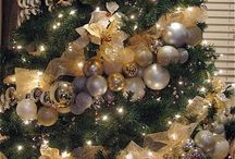 gold&silver garland tree