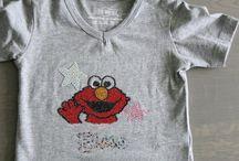 Hotfixsteentjes op een shirt / Ik maak shirtjes naar wens van andere heb je een leuk idee hoor ik het graag  I make my one shirts if you it like let me know