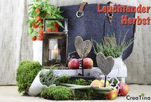 Leuchtender Herbst / Unser Programm Leuchtender Herbst, bestehend aus Filz Shopper in anthrazit, Holzlaterne mit Aluhenkel, und Teakholz Herz Skulptur als Unikat.