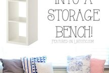 Kid bedroom storage idea