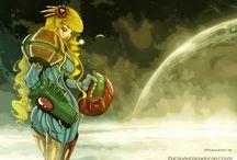 My Samus aran arts / Metroid games