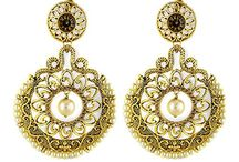 Women Kundan Wedding Earrings