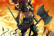 Battle Axe Woman