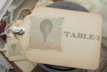 Hot Air Balloon Table Card Ideas / Need ideas for a friend.  They want hot air balloon idea for Table Cards.