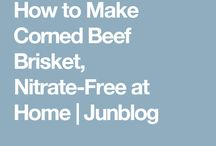 Corned beef making