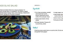 Easy Salads / Salads of all kinds that can be made in 15 minutes or less