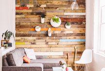 ściany drewniane