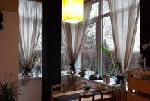 decoration of windows, curtains