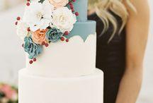 Wedding ideas dusty blue and peach