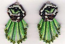 Beaded earrings - Wild animals