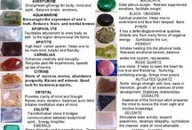 Crystals,Stones and Minerals / interesting info for using crystals stones and minerals / by Cathy Bretz