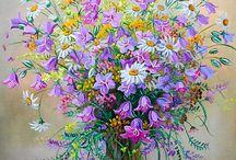 Květy v nádobách