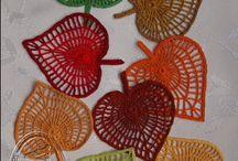 Szydełkowe liście / szydełkowe liście, crochet leaf