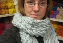 knitted scarf,chunky.