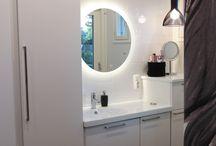 Bathroom-Sauna / Avara ja valoisa kylpyhuone,  Anico Sisustussuunnittelu Oy