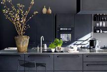 black kitchen stools