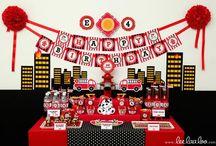 Hamish's fireman birthday