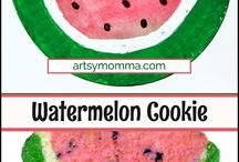 "Watermelon Activities / Summer is perfect for watermelon activities! This board is for everything watermelon themed including recipes, kids art, lessons, games, and more! Be sure to check out our new iBook to be published June 2016, ""W is for Watermelon"" by Hillary Kleck!"