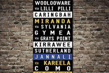 Tram & Bus Scrolls Australia / These are Tram & Bus Scrolls for Sydney, Melbourne, Perth, Brisbane and Adelaide Australia, stunning word art designs