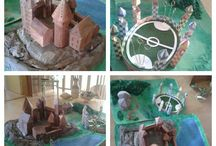 Hogwarts castle/area model / This is my homemade model of Hogwarts area from Harry Potter. Hope you like it! #homemade #model #Hogwarts #Harry #Potter