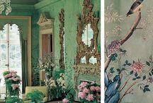 * painted paper pretties * / a la gracie / de gournay