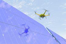 Solar plant drones inspection