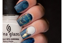 Zipper nails art