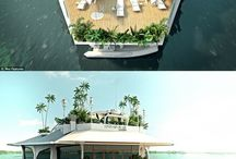 Floating vacation houses