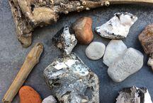 Steine / Fundstücke aus dem Meer