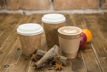 Paper Cups / Range of eco paper cups single and double wall. Inside coating pla not plastic ! Eco friendly dyes !