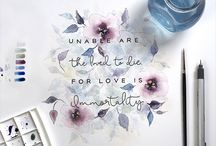 Watercolor / All things watercolor, watercolor paintings, watercolor typography