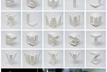 Typography Sculpture Ideas