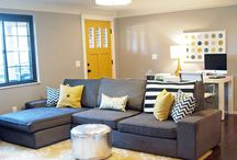 My living room: yellow and gray / Home decor / by Julie Epperson