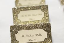 Glitter wedding deco.