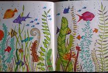 Johanna Basford - My Colouring Pages / Moje maľovánky