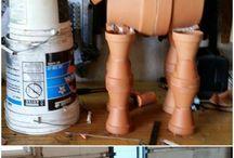 Clay pot horse.