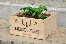 aménagements jardin et extérieur en caisses à vins / quelques suggestions pour aménager votre balcon avec des caisses en bois, votre vélo avec une caisse à vin