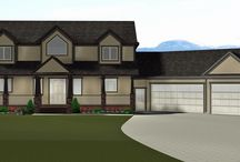 Two Storeys with Attached Garage / Check out some of these amazing two storey plans.