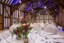 Wedding Flowers - Displays / Floral arrangements ideas for pedestal, pews, floor, hanging and table tops.