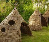 Vyplétané struktury v zahradě
