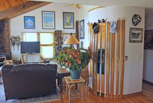 Decorate with Vintage Ski Memorabilia! / Want to create a ski lodge style decor in your home, office, dorm, basement or maybe even your man cave? Check out some of the fun ways that we have decorated with our Vintage Ski items. Send us your photos too!