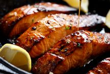 Salmon Fillet with honeyed butter