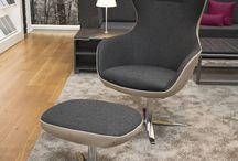 Sessel / Sessel von Febrü: mit den Design Sesseln von Febrü wird jedes Büro, jede Gesprächsrunde und jeder Eingangsbereich wohnlich und gemütlich.
